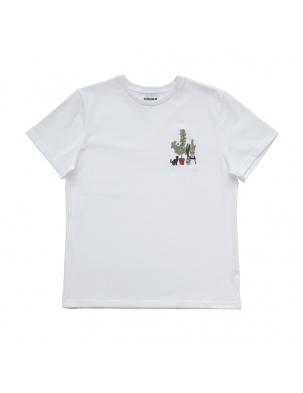 Bawełniany t-shirt z haftem w kwiatach MOMU WARSAW