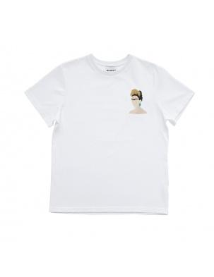 Bawełniany t-shirt z haftem Frida MOMU WARSAW