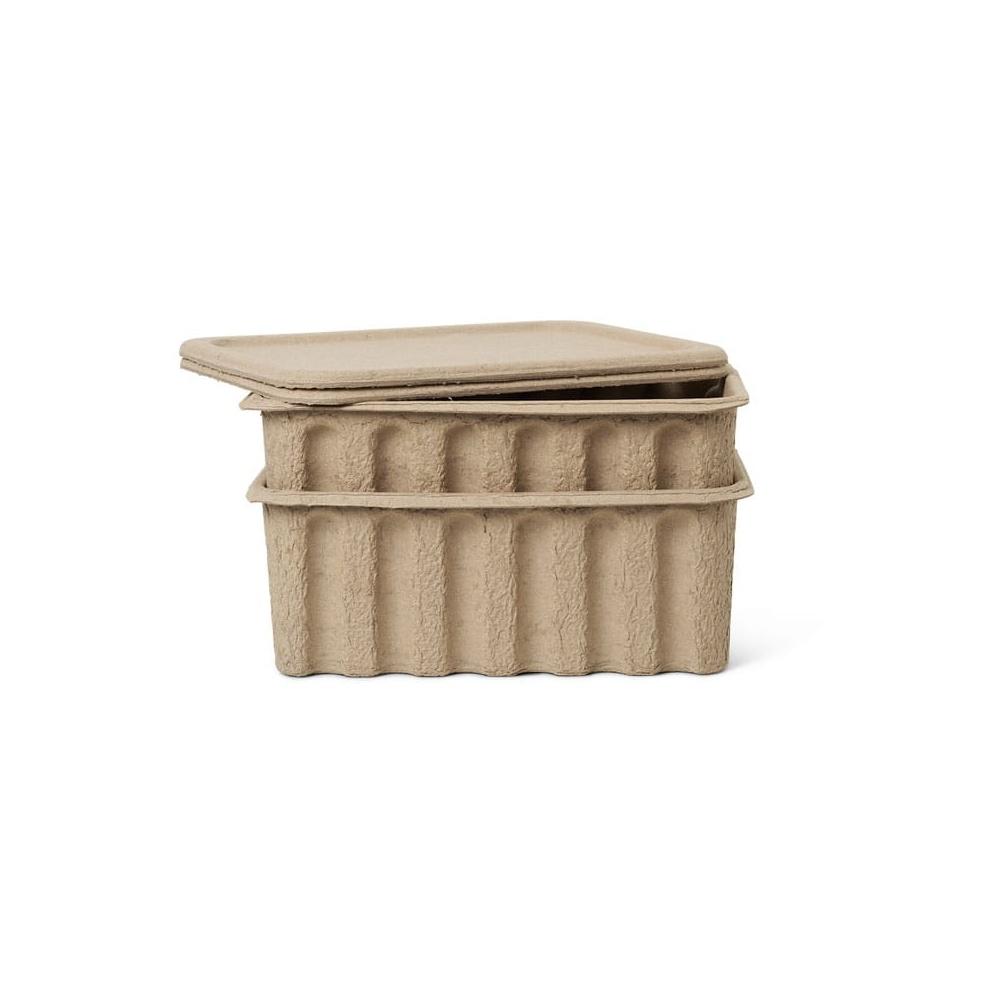 Zestaw pudełek Paper Pulp Box FERM LIVING