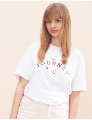 T-shirt z bawełny organicznej ON A JOURNEY WOMOM