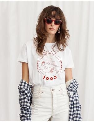 T-shirt z bawełny organicznej STAY COOL WOMOM