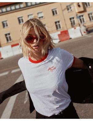 T-shirt z bawełny organicznej ADIEU CLICHÉ WOMOM