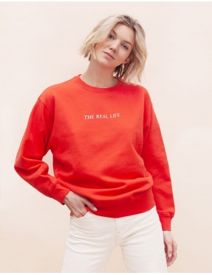 Bawełniana bluza z haftem THE REAL LIFE WOMOM