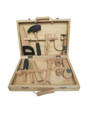 Zestaw drewnianych narzędzi w skrzynce Egmont Toys