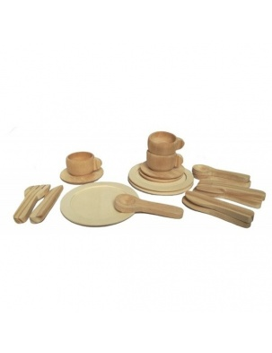 Drewniany zestaw obiadowy Egmont Toys