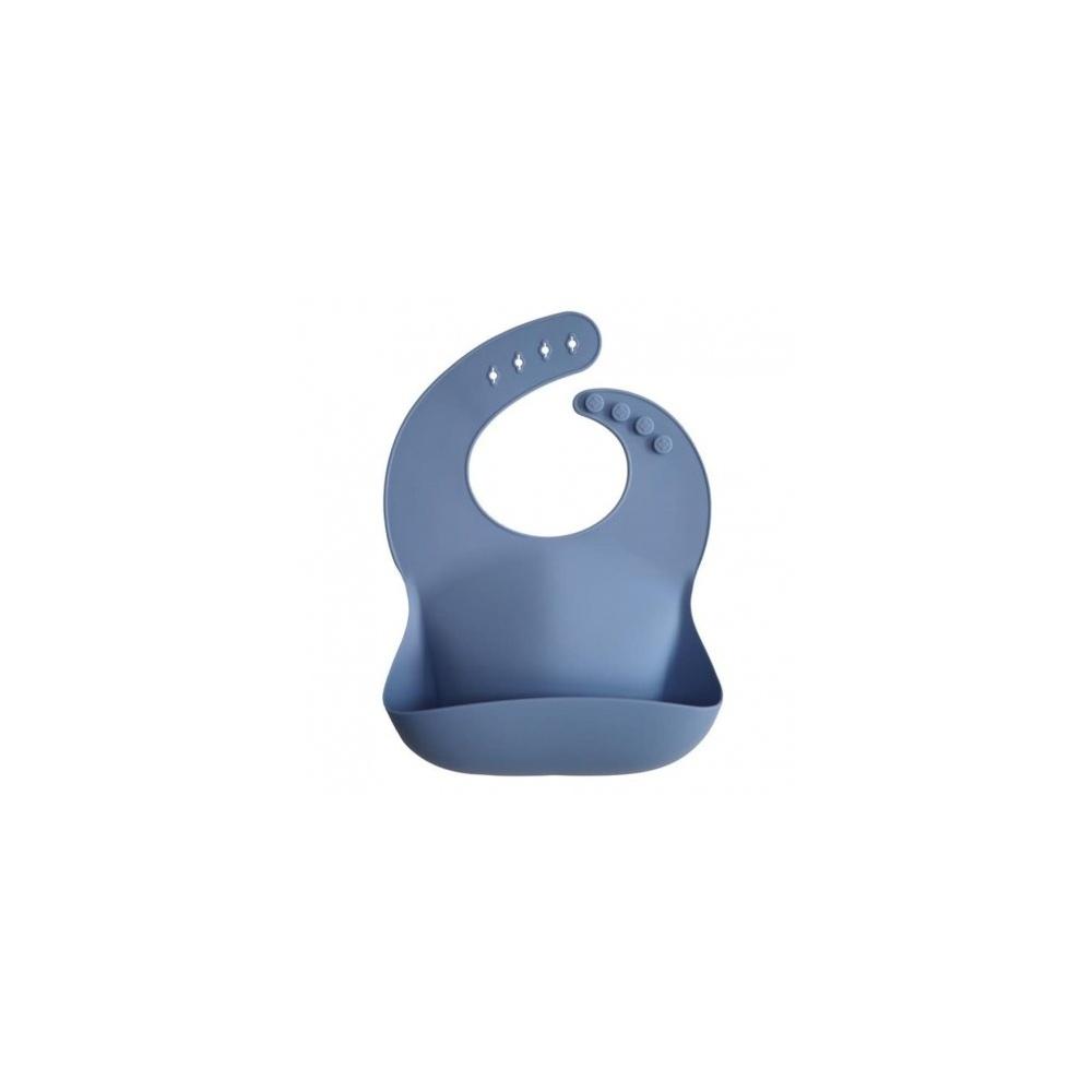 Śliniak silikonowy Powder Blue MUSHIE
