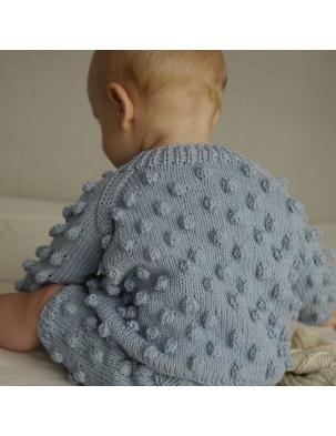 Sweter z wełną merino BUBBLE Ice Blue KEEP WOOL WARSAW