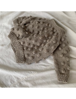 Sweter z wełną merino BUBBLE Beige KEEP WOOL WARSAW
