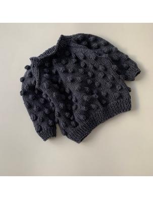 Sweter z wełną merino BUBBLE Dark Grey KEEP WOOL WARSAW