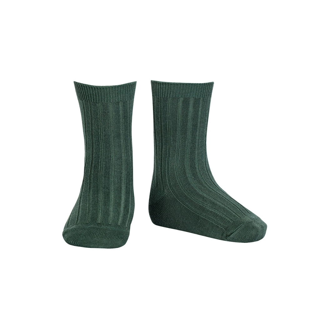 Skarpetki BASIC WIDE RIB SHORT SOCKS PINE Condor