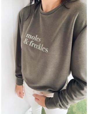 Longsleeve oversize z logo Dark Green MOLES&FRECKLES