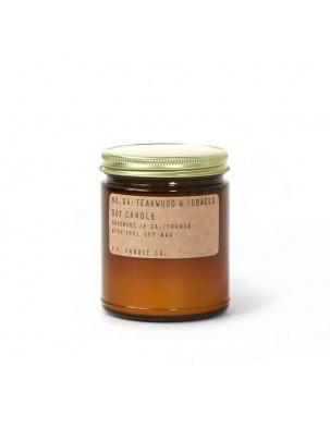 Świeca sojowa z olejkami eterycznymi Teakwood & Tobacco P.F. Candle Co.
