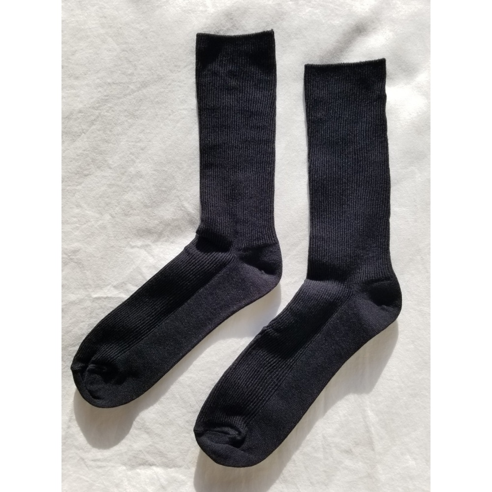 SKARPETKI TROUSER SOCKS BLACK LE BON SHOPPE