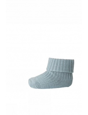 Wełniane Skarpetki ANKLE WOOL RIB TURN DOWN BLUE mp Denmark