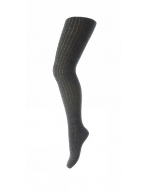Wełniane rajstopy RIB WOOL TIGHTS ANTHRACITE mp Denmark