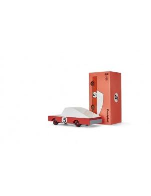 Samochód Drewniany Red Racer CANDYLAB