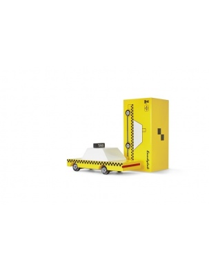 Samochód Drewniany Yellow Taxi CANDYLAB