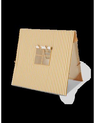 Namiot / tipi z bawełny organicznej MUSTARD STRIPEDFERM LIVING
