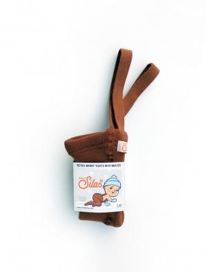 Ocieplane rajstopy z szelkami Warmy Cinnamon SILLY SILAS