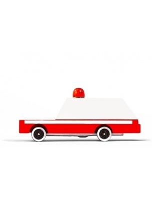 Samochód Drewniany Ambulans CANDYLAB