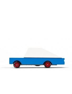 Samochód Drewniany Blue Racer CANDYLAB