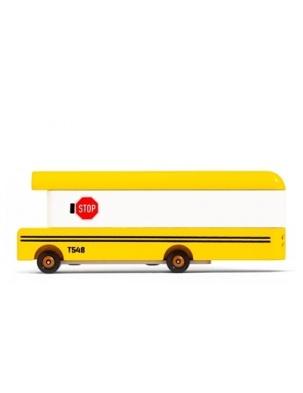 Samochód Drewniany School Bus CANDYLAB