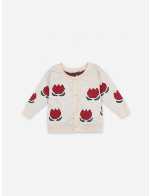 KARDIGAN CHOCOLATE FLOWERS JACQUARD CARDIGAN BOBO CHOSES