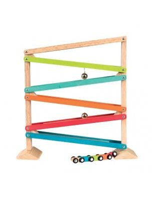 Drewniana zjeżdżalnia - 5 kolorów Egmont Toys