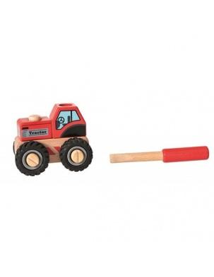 Drewniany ciągnik do składania - ze śrubokrętem Egmont Toys