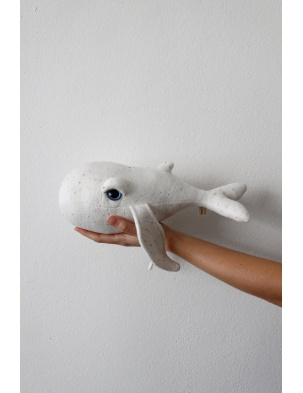 Przytulanka Wieloryb The Mini Whale Albino BIGSTUFFED