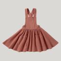 Sukienka z szelkami z bawełny organicznej Pinafore TERRACOTTA SUSUKOSHI