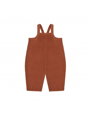 Ogrodniczki frotte Deep Earth Terry Cropped Dungarees ORGANIC ZOO