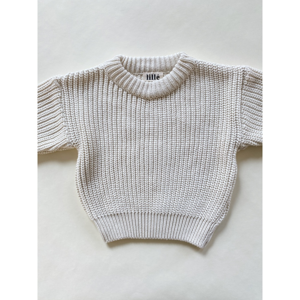 SWETER CHUNKY OFF WHITE LILLE