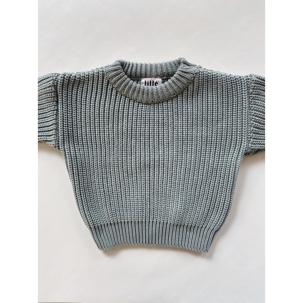 SWETER CHUNKY SOFT GREEN LILLE