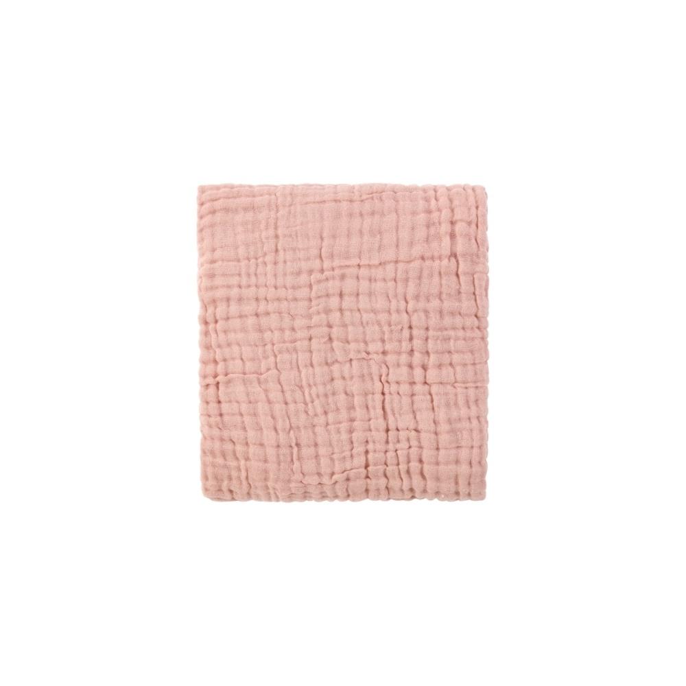 Teksturowany otulacz/kocyk 105x105 cm Crinkle Blanket PINK SUSUKOSHI