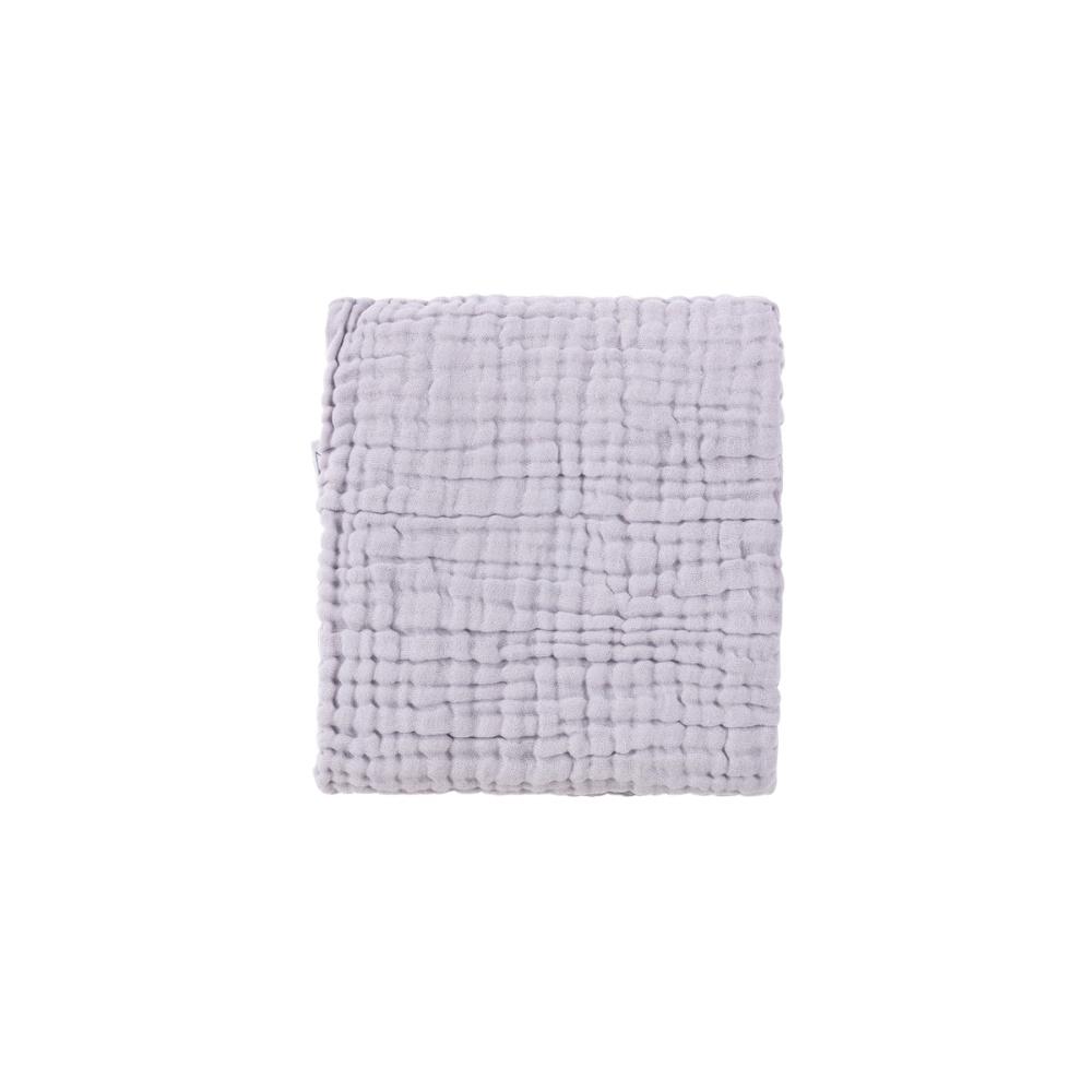 Teksturowany otulacz/kocyk 105x105 cm Crinkle Blanket PALE LILAC SUSUKOSHI