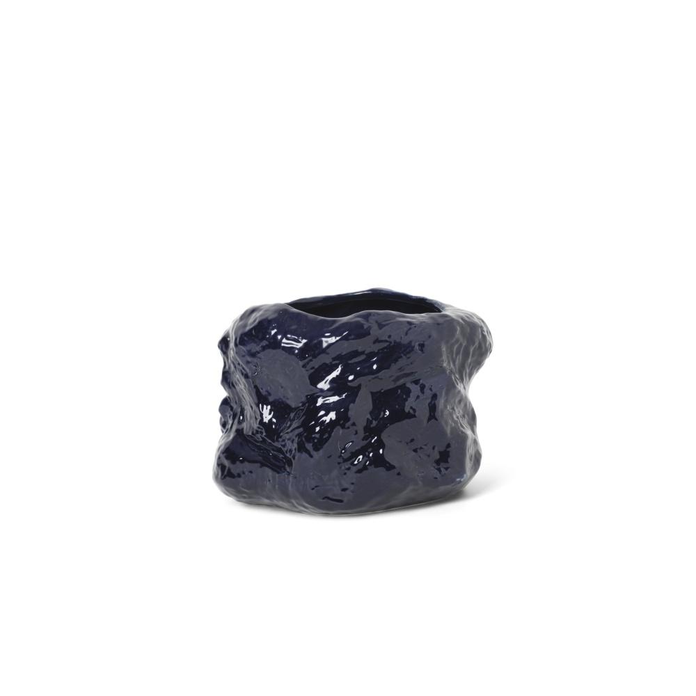 Wazon, doniczka Tuck Pot DARK BLUE FERM LIVING