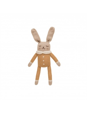 Bunny knit toy ochre jumpsuit Main Sauvage