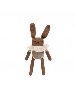 Bunny knit toy oat bodysuit Main Sauvage