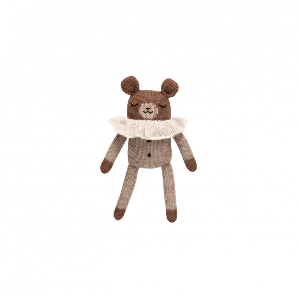 Teddy knit toy oat pyjamasMain Sauvage