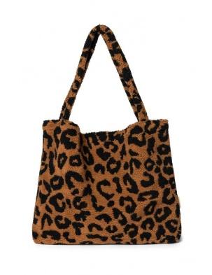 TORBA DLA MAM Teddy leopard brown mom-bag STUDIO NOOS