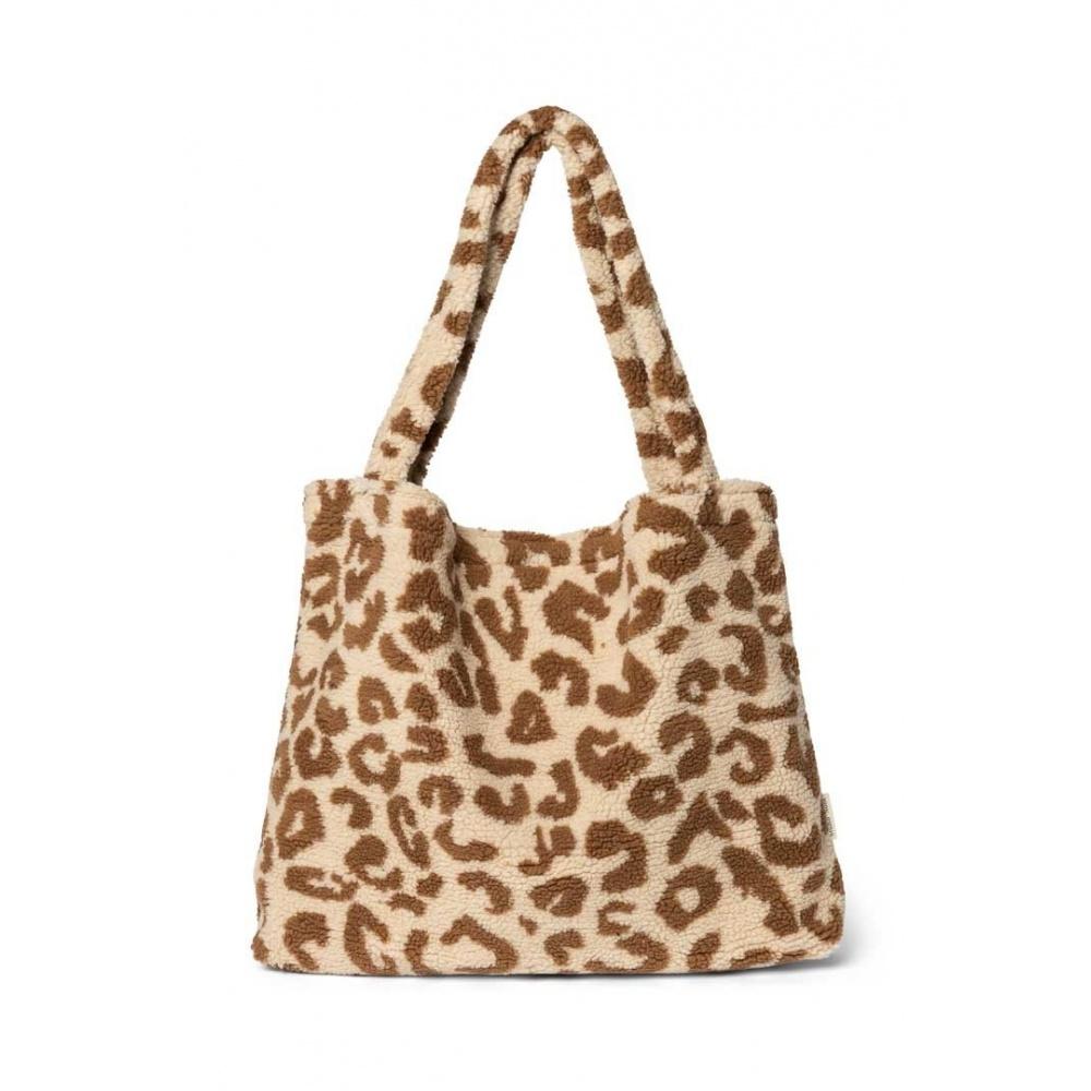 TORBA DLA MAM Teddy leopard ecru mom-bag STUDIO NOOS