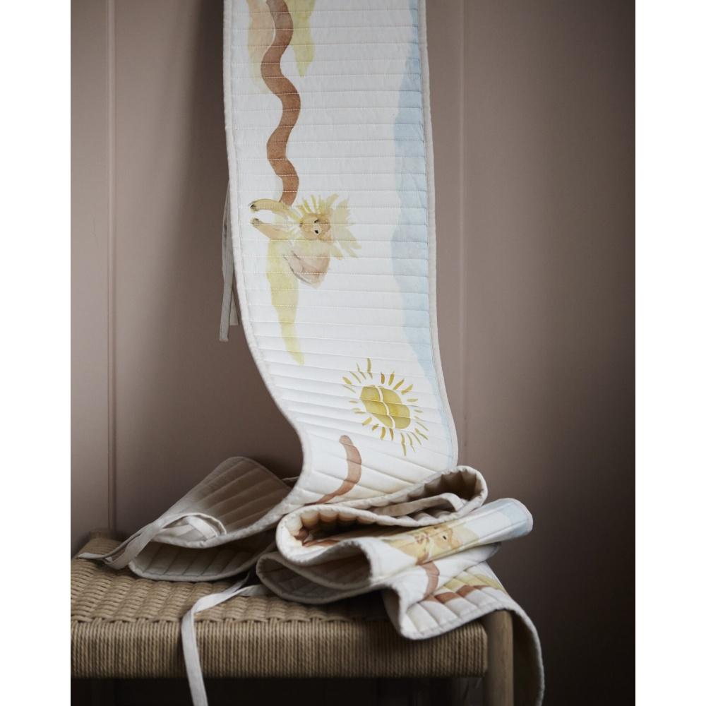 Ochraniacz do łóżeczka z bawełny organicznej LeoLeo