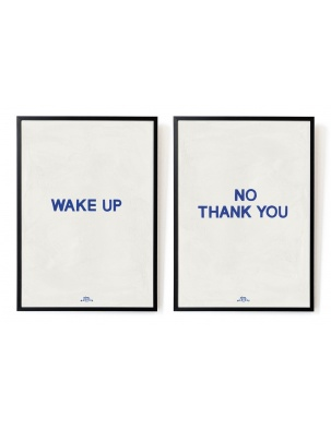 Plakaty Wake up - No, thank you. The blue set A3 HOTEL MAGIQUE