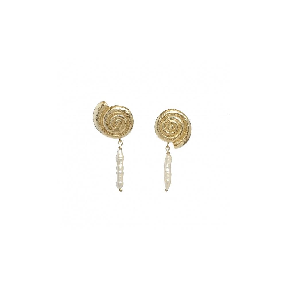 Kolczyki Jura no. 3 – duże muszle z perłami Ola Słowiak