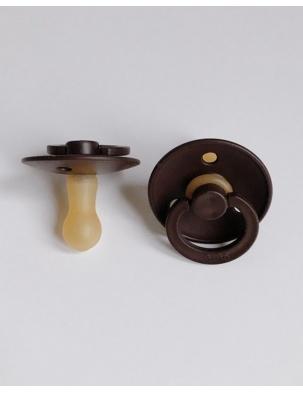 Smoczek z kauczuku naturalnego Brown BIBS Color