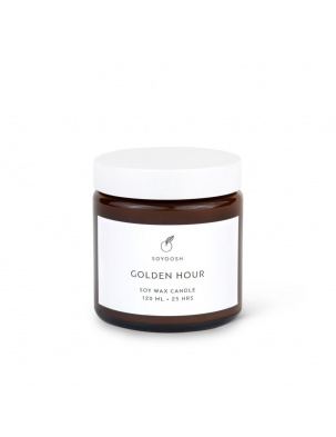 ŚWIECA SOJOWA GOLDEN HOUR 120 ML Soyoosh
