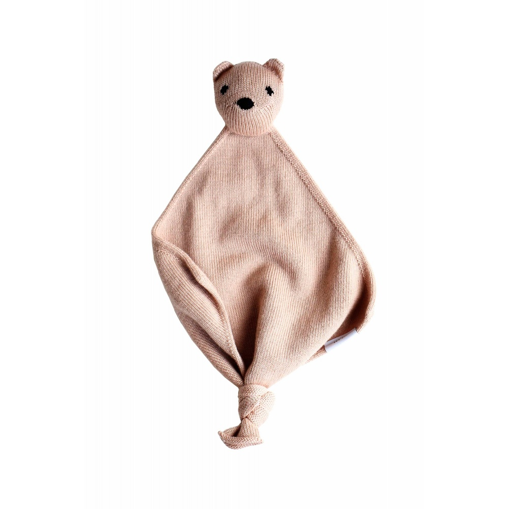 Przytulanka z wełny merino Teddy Tokki blush Hvid