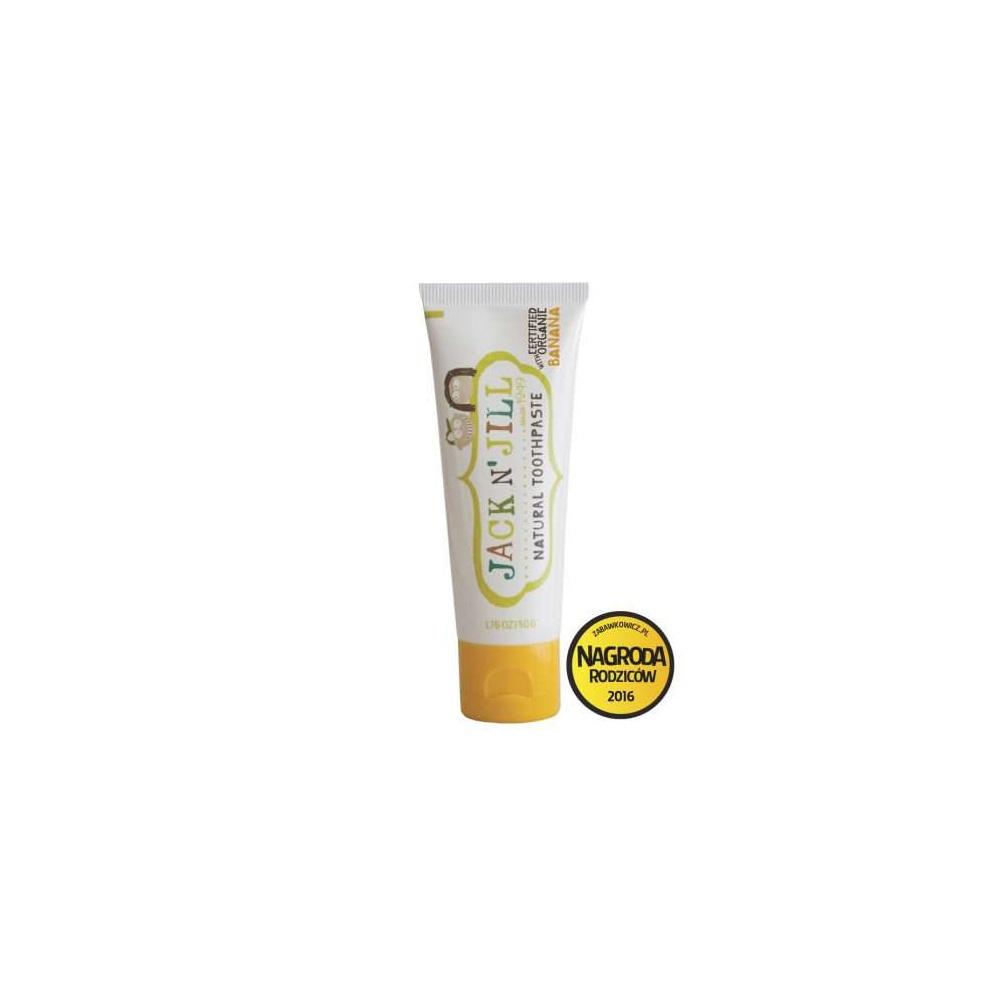 Naturalna Pasta do zębów, organiczny banan i Xylitol 50g Jack N'Jill