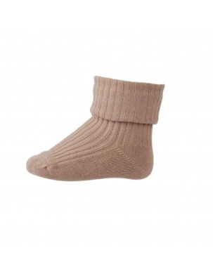 Wełniane Skarpetki ANKLE WOOL RIB TURN DOWN Rose mp Denmark